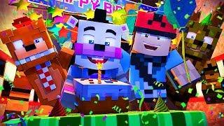 Minecraft FNAF 6 Pizzeria Simulator - HELPYS BIRTHDAY! (Minecraft Roleplay)