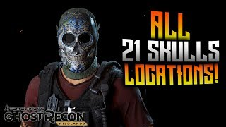 Ghost Recon Wildlands - ALL 21 Skulls Locations! Day Of The Skulls Event