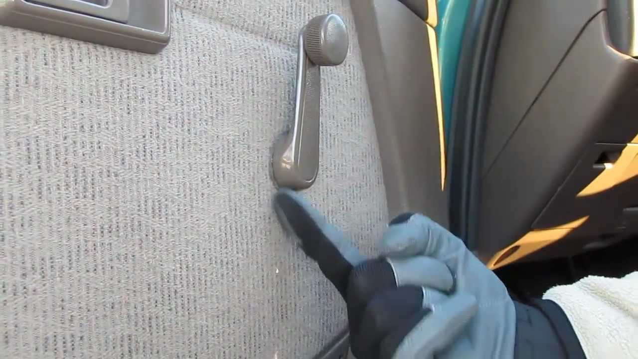 Toyota Tacoma Door Panel Removal part 2 Removing window handle - YouTube