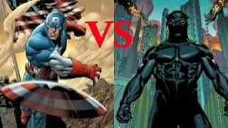 Captain America vs Black Panther! Who wins? Enjoy!