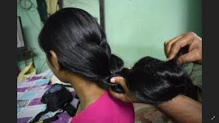 silky knee length hair play by customer full video// 88862 18625 contact us