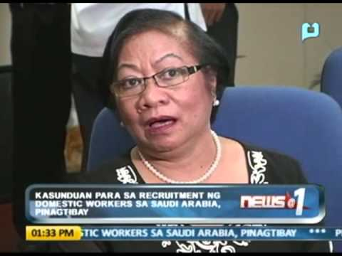 News@1: Kasunduan para sa recruitment ng domestic workers sa Saudi Arabia, pinagtibay