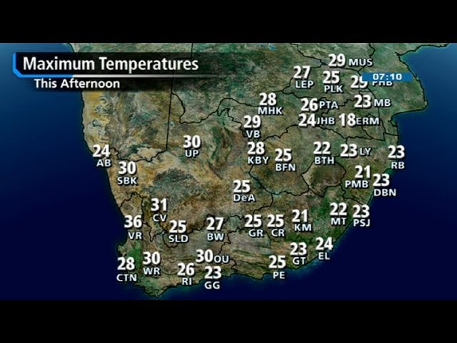Weather Short - SA #Weather forecast | 15 April 2018