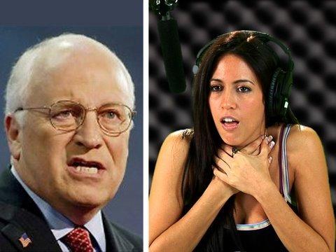 Dick Cheney Strangles Obama Girl!