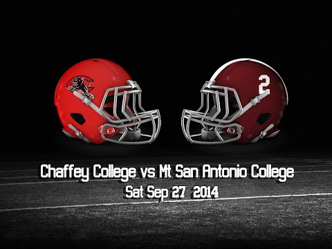 Chaffey College at Mt Sac  9-27-14 Highlights