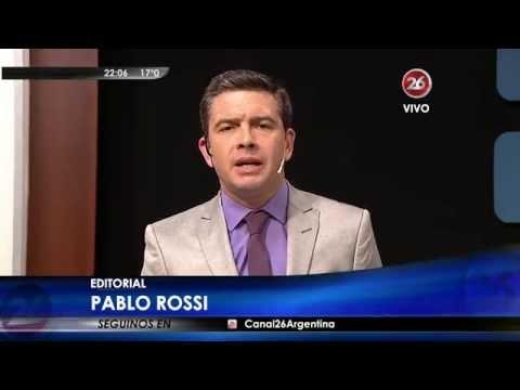 """Editorial de P.Rossi en """"Hora Clave"""", con M.Grondona - 25/08/15"""