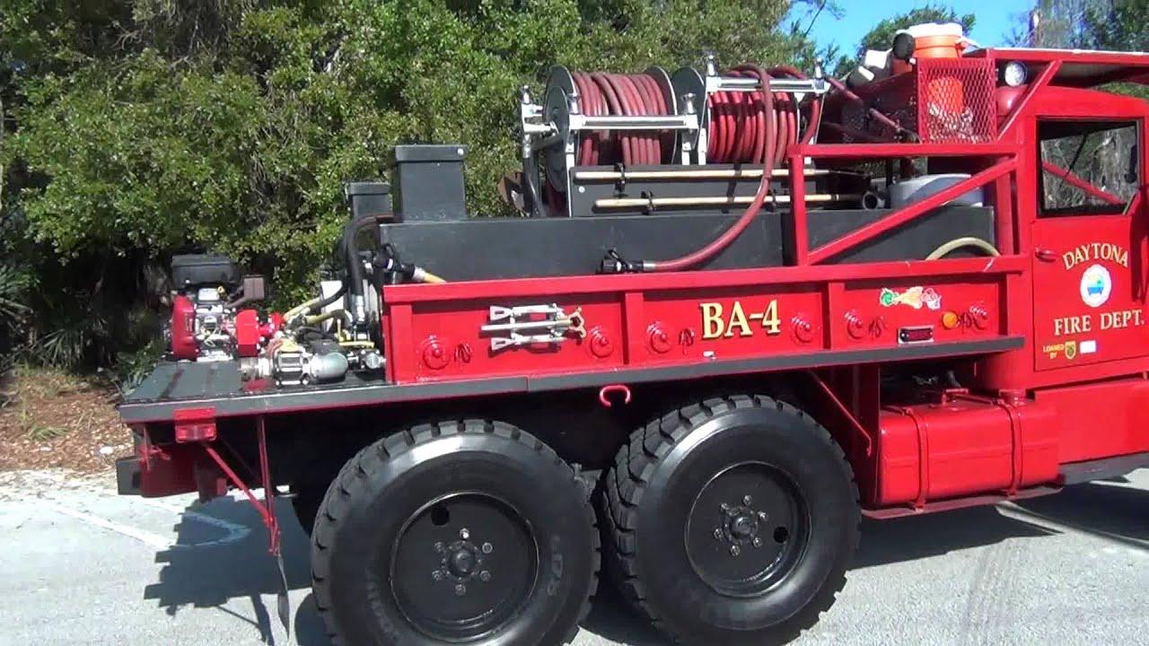 Daytona Beach Fire Rescue Brush Truck Ex Army Truck Youtube