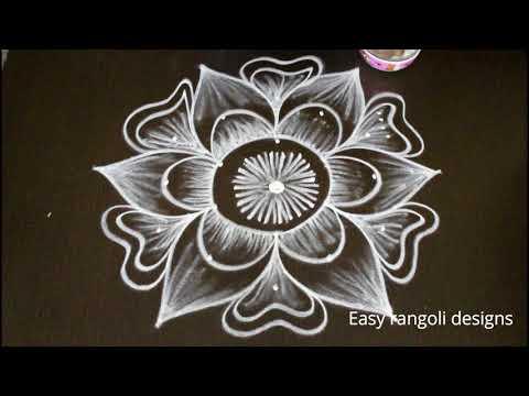 latest pongal kolam designs with dots* beautiful Sankranthi muggulu *easy rangoili designs with dots #1