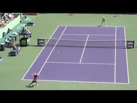 Maria Sharapova vs Elena Vesnina, Miami - Sony Ericsson Open 2013.