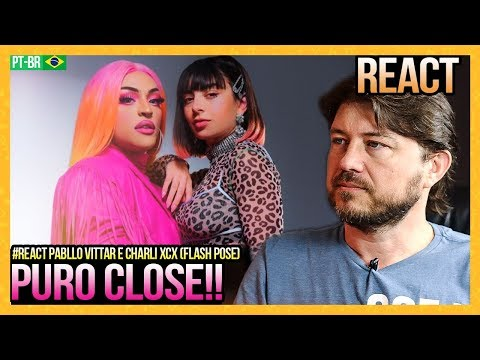 REAGINDO a Pabllo Vittar ft. Charli XCX - Flash Pose (Official Music Video)