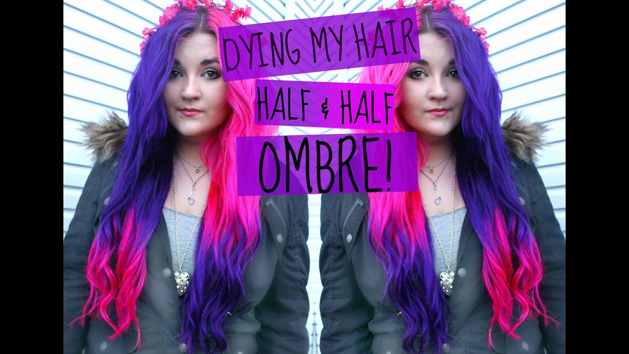 dying my hair half amp half ombre � youtube
