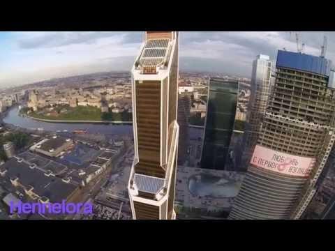 Полет над Москвой Сити
