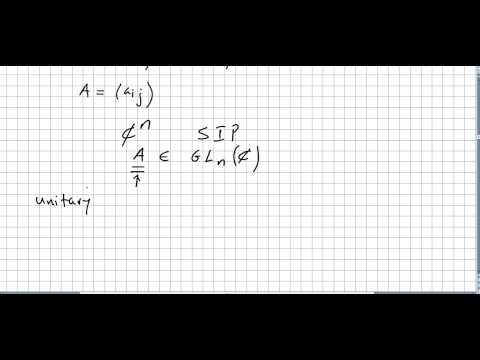 Representation Theory 10, Unitary Operator, Conjugate, transpose, Self-Adjoint.