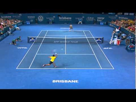 Federer v Matosevic - Highlights Men's Singles Quarter Finals: Brisbane International 2014