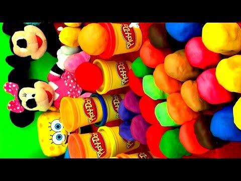 30 Surprise EGGS Playdough Angry Birds Peppa Pig Hello Kitty Toy Story Disney Pixar Cars Kinder toys