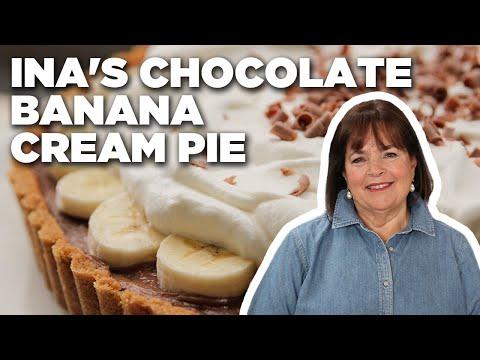 Barefoot Contessa Makes a Chocolate Banana Cream Pie | Food Network
