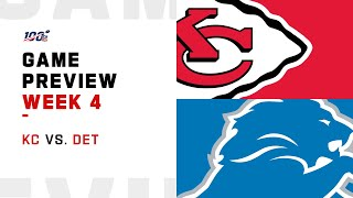 Kansas City Chiefs vs. Detroit Lions Week 4 NFL Game Preview