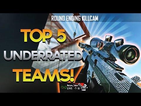 Red Scarce: Top 5 Underrated Teams! Week #43 SICK #1 SPOT! BO2 & Advanced Warfare Trickshot Montage