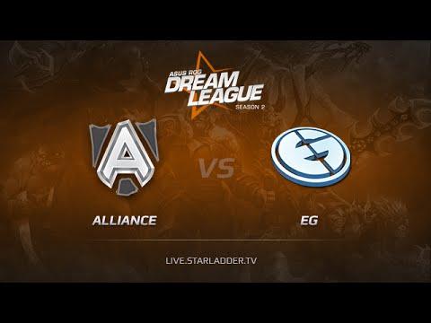 Alliance vs EG, DreamLeague Season 2, Day 6, Game 1, Match 1