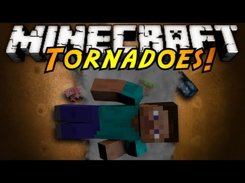 Minecraft Mod Showcase : TORNADOES!