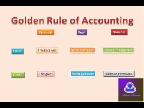3 golden rules of accountancy I was a student of commerce but i don't remember i am from india.