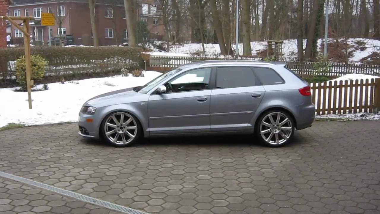 audi a3 sportback mit g a s airride youtube. Black Bedroom Furniture Sets. Home Design Ideas