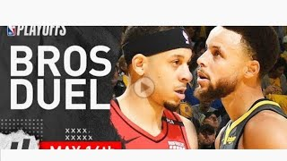 Stephen Curry vs. Seth Curry 2 Duel highlights 2019 NBA Playoffs WCF - 37pts for Steph!