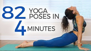 82 Yoga Poses in 4 Minutes ♥ 30 Days of Yoga with Jess - Weight Loss, Flexibility, Anxiety Relief