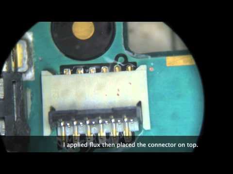 How to repair iphone 3GS/3G Number 3 FPC connector (replacement)