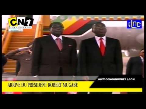 ARRIVE DU PRESIDENT ROBERT MUGABE A KINSHASA,90ans d'age encore fort