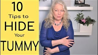 Slimming, Hiding, Flattening Tummy & Stomach, 10 Tips, mature women over 50