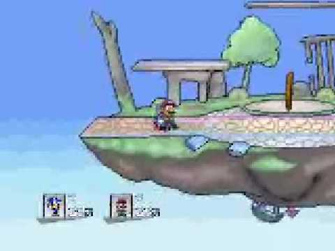 Super Smash Flash 2 Link Vs Kirby Sonic VS Mario And Ichigo VS Lloyd