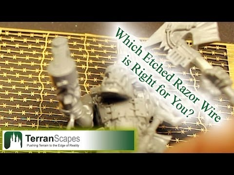 TerranScapes - 7 Etched Razor Wire Reviews - 40K Wargame Terrain