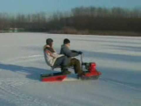 снегокат для рыбалки видео