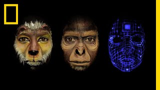 Watch Face Paint Tell the Story of Human Evolution in One Minute   Short Film Showcase