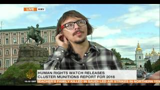 CIT researcher Kiril Mikhailov speaking on Al Jazeera English on cluster bombs in Syria