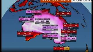 Extreme Weather: Australia Heat Wave Breaks Records, California Evacuations, Mudslides and Flooding
