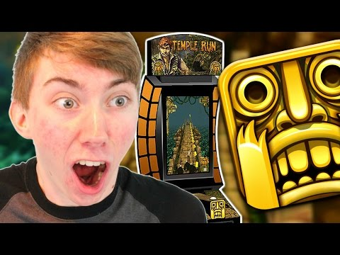 TEMPLE RUN ARCADE MACHINE (Arcade Gameplay Video)