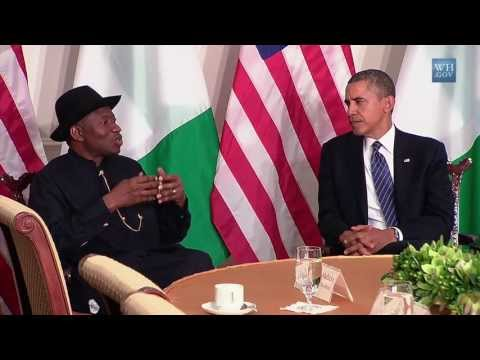 President Obama's Bilateral Meeting with President Jonathan of Nigeria