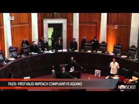 Filed: First valid impeach complaint vs Aquino