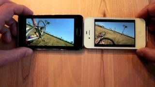 iPhone 4s vs Galaxy S II YouTube video test