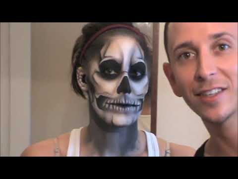 LADY GAGA Born this way Skeleton Tattoo - Official Makeup Tutorial