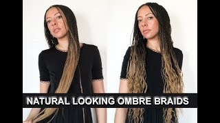 Ombre braids hairstyle for 2018 tutorial