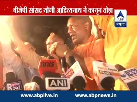 Yogi Adityananth addresses rally in Lucknow despite being denied permission by district admin