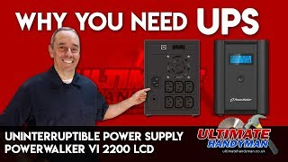 Why you need a UPS | uninterruptible power supply |PowerWalker VI 2200 LCD