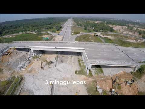 pembinaan semula jambatan runtuh cyberjaya putrajaya
