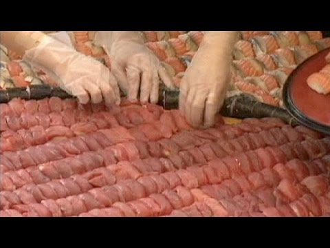 World's largest sushi mosaic created in Hong Kong - no comment
