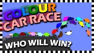 24 Colour Cars Race - Algodoo Car Race