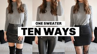 How to Style a Sweater | 10 Ways to Style One Sweater