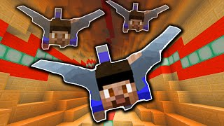 FLYING DOWN INFINITE TUNNELS! - (Minecraft 1.9 Elytra Racing)